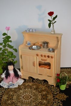 Handcrafted Wooden Toy Play Jennys Kitchen