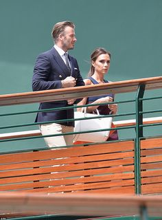 Posh and Becks: Victoria and David Beckham arrive during day 14 of the Wimbledon Championships - July 6, 2014