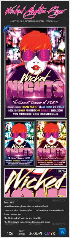 Wicked Club Nights Flyer Template