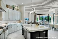 Open, modern kitchen in The Benton l Sater Design Collection l Home Designs l House Designs