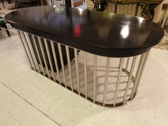 View this item and discover similar for sale at - A unique Art Deco style ebonized wood desk with interesting steel support frame. Two drawers under the desk and a three-drawer cabinet. Vintage Desks, Modern Desk, Wood Desk, Table Furniture, Art Deco Fashion, Unique Art, Tables, Home Appliances, Writing