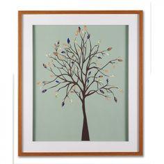"Graham & Brown Patchwork Tree Framed Print Art - 28"" X 24"" - 43736"