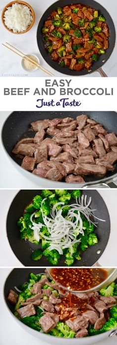 Easy Beef and Broccoli recipe from justataste.com #recipe #quickandeasy #beef #chinesefood