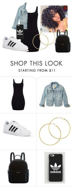 Black dress by stylists-clxv on Polyvore featuring Hollister Co., adidas, Calvin Klein and Melissa Odabash