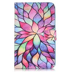 Galaxy Tab A 7.0 Case, Firefish [Kickstand] [Cards Holder] PU Leather Inner Sturdy Bumper Flexible TPU Magnetic Buckle Protective Cover for Galaxy Tab A 7.0(SM-T285/280)-Lotus >>> You can get additional details at the image link.