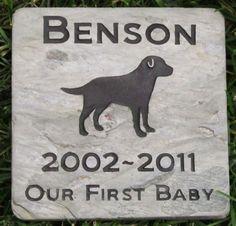 Personalized Pet Memorial Grave Stone Marker Labrador Retriever & Other Breeds