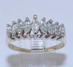 14K+Yellow+Gold+Genuine+Marquise+Diamond+100+ct+by+GalaxyGems,+$689.00