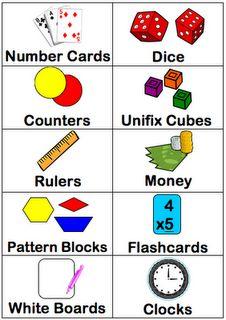 Math Bucket labels.