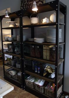 Organizing Open Shelves Open shelving Industrial and Food