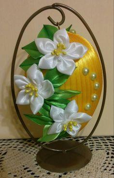 Kanzashi ozdoba wielkanocna Easter decoration