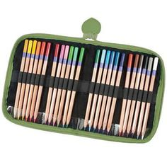 Smoothly finish your latest coloring book in style! These brilliant colors are ideal for drawing, coloring and more. Comes with a brilliant blue foam-lined zippered case so you can take your coloring with you! Art Supplies Storage, Art Storage, Crystal Light Containers, Eagle Craft, Backpack Storage, Zipper Pencil Case, Marker Storage, Arts And Crafts Storage, Artist Supplies