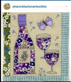 Sharon Blackman Embroidery Cards, Free Motion Embroidery, Free Machine Embroidery, Machine Quilting, Embroidery Applique, Fabric Cards, Fabric Postcards, Small Quilts, Mini Quilts