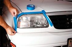 How to Clean Your Headlights and Make Them Shine Like New Cafe Racer Headlight, Headlight Repair, Headlight Lens, Car Repair, Headlight Restoration, Car Restoration, Car Cleaning, Cleaning Hacks, How To Clean Headlights
