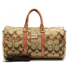 Coach Bleecker Monogram In Signature Large Khaki Luggage Bags AFL  Regular Price: $69.99