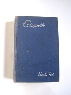 Etiquette by Emily Post by VintageCommon on Etsy