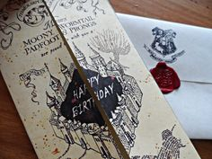 Should have got this for Beci Goodrick's birthday! Harry Potter Marauder's Map Birthday Card.