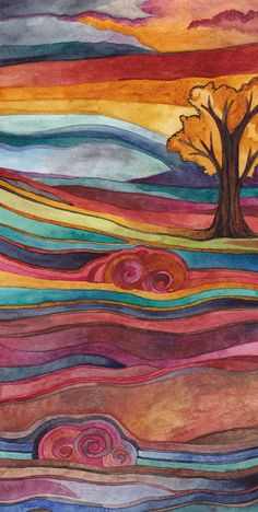 Gorgeous Watercolors by Megan Noel; love the stripes of color