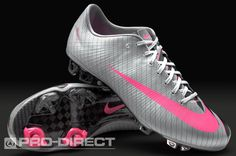 They are a beautiful grey,pink trainers. They has a pink dove. Her name is Nike Football Boots - Nike Mercurial Vapor Superfly CR7 III FG - Firm Ground - Soccer Cleats. They have a price of two thousand and eighty pesos
