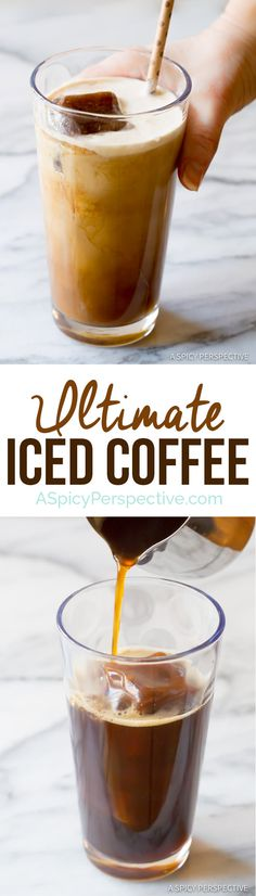 The Ultimate Iced Coffee - Tips for making the BEST iced coffee! | ASpicyPerspective.com