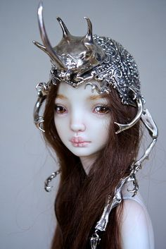 This is my Elf Warior (The Hybrid Beetle Crown by Marina Bychkova)