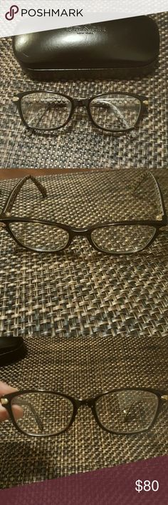 Coach glasses ⭐glasses are in perfect like new condition  ⭐no scratches on the frames ⭐ready for you to put your prescription in ⭐worn maybe 2 times I just prefer my other set ⭐Authentic Coach 5291 tortise military  ⭐will include the orginal hardcase (coach) a cloth case (not coach) and a lens cloth (not coach) ⭐the hard case has slight scratches on it  ⭐⭐These do have my prescription in them so they will need to be changed⭐⭐ ⭐ships same day and with care 😊 Coach Accessories Glasses