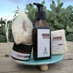 Organic skin care set & soap dish