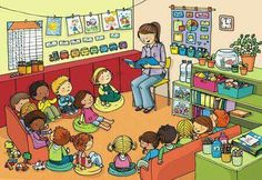 def_classe_copier Très nombreuses illustrations OK OK OK Speech Language Therapy, Speech And Language, Therapy Activities, Preschool Activities, Picture Comprehension, Picture Composition, Hidden Pictures, Picture Story, Teaching English
