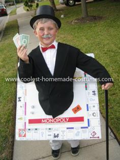 Coolest Uncle Pennybags Monopoly Man Costume 12: When my son said he wanted to be a board game for Halloween, I admit, I thought he was crazy! What I didnt know is how awesome it would be and how much