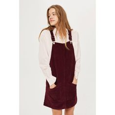 412261a71e Topshop Tall Moto Cord Pocket Pinafore Dress (€44) ❤ liked on Polyvore  featuring dresses