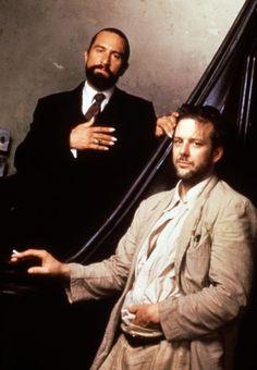 Mickey Rourke and Robert De Niro in Angel Heart