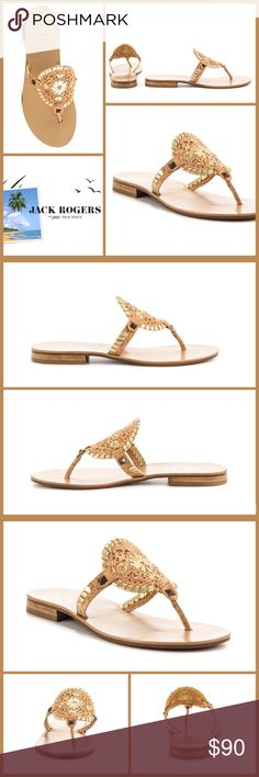 """JUST IN 🆕 'GEORGICA' GOLD FLECK CORK THONG SLIDES NWOB-Leather upper features a Gold Fleck Cork-covered medallion ▪️Golden pyramid stud trim ▪️Circular ornament at vamp ▪️Thong style wear ▪️Classic whipstitch detail ▪️Stud detail ▪️Leather lining and footbed ▪️Low stacked heel- 3/4"""" ▪️Man-made outsole  🛍BUNDLE=SAVE  🚫TRADE🚫HOLD🚫MODEL  💯Brand Authentic  ✈️Ship Same Day--Buy By 2PM PST  🖲USE OFFER BUTTON TO NEGOTIATE   ✔️Ask Questions Not Answered In Description--Want You To Be Happy…"""