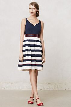 Brigantine Regatta Dress from Anthro #stripes