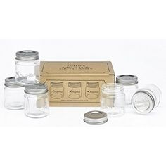 Hayley Cherie® - Mason Jar Shot Glasses with Lids (Set of 8) - Mini Mason Shooter Glass with Handles - 2 Ounces