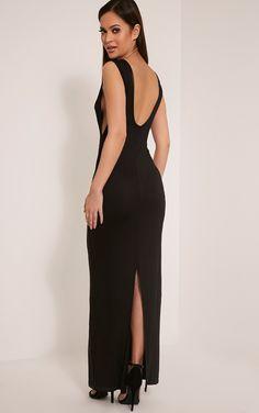 Basic Black Drop Armhole Maxi Dress Image 1