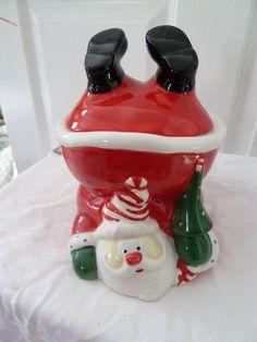 Upside Down Santa Cookie Jar