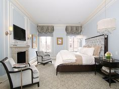 96 Beacon Street Unit Ph, Boston, MA, 02108 -- Homes.com. Beautiful light blue bedroom, classic and elegant