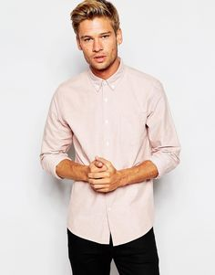 ASOS Oxford Shirt In Rust With Long Sleeves