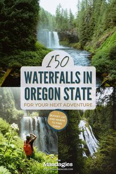 There are so many waterfalls in Oregon to explore, there's one to see no matter where you travel in the state! We're sharing the most famous Oregon waterfalls here, with tips, maps, and downloadable bucket lists to print too! #oregon #PNW #oregonstate #PacificNorthwest #portland #waterfalls Oregon Road Trip, Oregon Travel, Road Trip Usa, California Travel, Famous Waterfalls, Beautiful Waterfalls, North America Destinations, Hiking Usa, Viajes