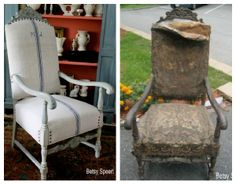 Betsy Speert's Blog: How to Upholster a Chair (or what did I get myself into???) - An excellent tutitorial on reupholstering a chair. She does a beautiful job!