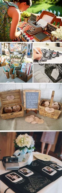 Libros de firmas originales en las bodas #weddingideas #weddingdecor #weddings