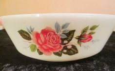SOLD - Vintage JAJ Pyrex - Cottage  Rose - 20cm/8ins Serving Dish / Casserole
