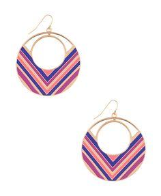 Chevron Stripe Earrings | FOREVER21 $4.80