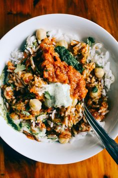 EGGPLANT BLISS BOWL WITH MINT AND CILANTRO CHUTNEY