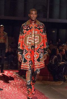 Givenchy Fall 2015 Men's Collection. An ode to Art Noveau and Persian patterns, usually found in carpets. Designer: Ricardo Tisci.