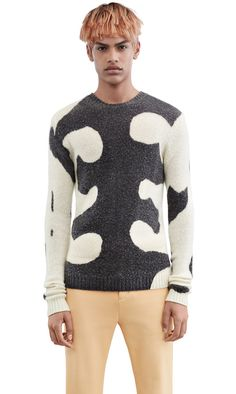 Acne Studios Peele waves printed cashmere blend sweater #AcneStudios #menswear #SS16
