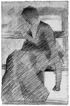 Woman on a Bench by Georges Seurat
