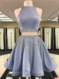 two pieces homecoming dresses, beaded homecoming dresses, A-line homecoming dresses, short prom dresses, formal dresses, party dresses#SIMIBridal #homecomingdresses