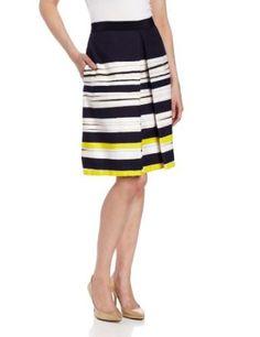 Anne Klein Women's Painterly Stripe Skirt, New Marine Multi, 12 Anne Klein. $129.00