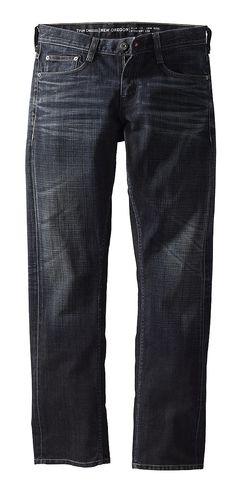 Schmal geschnittene 5-Pocket-Jeans mit niedriger Leibhöhe und geradem Beinverlauf, aufgesetzte Gesäßtaschen, Reißverschluss. Coated Denim: 100 % Baumwolle....