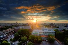 Sunset Over Berlin.  taken in Apartment near my house in Berlin, before I got kicked out by the guard, enjoy!